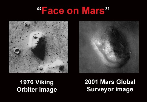 Face on Mars comparison